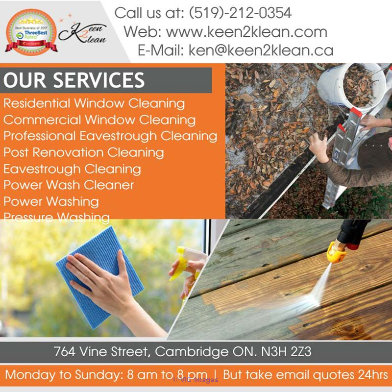 Professional Eaves trough Cleaning Cambridge | Keen 2 Klean Windows